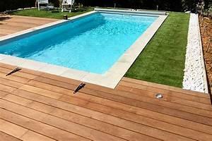 Piscine Avec Terrasse Bois : plage piscine en bois exotique ~ Nature-et-papiers.com Idées de Décoration
