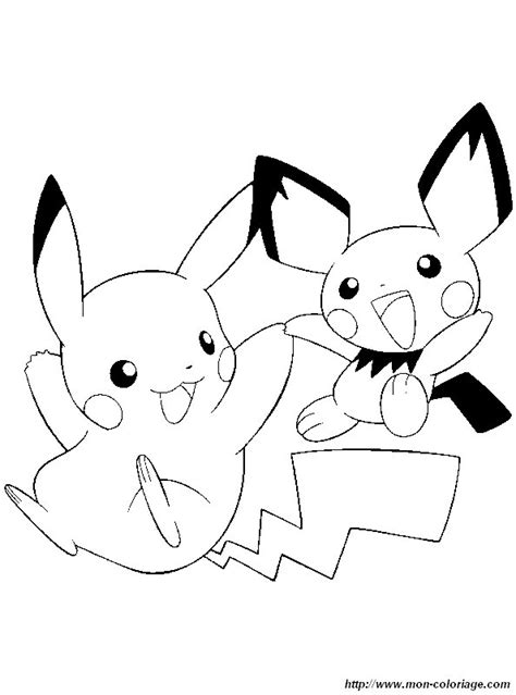 Colorare Pokémon, disegno pikachu pichu