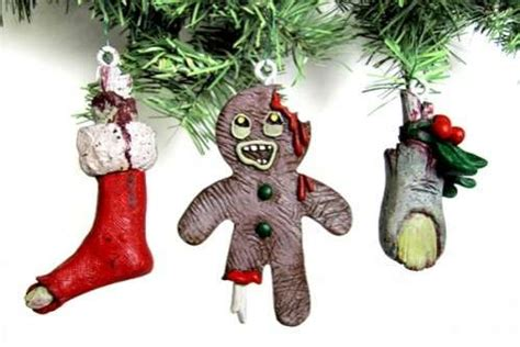 Undead Holiday Decor  Zombie Christmas Ornaments