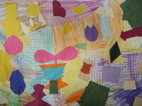 st grade texture collage maples elementary   art  briggs