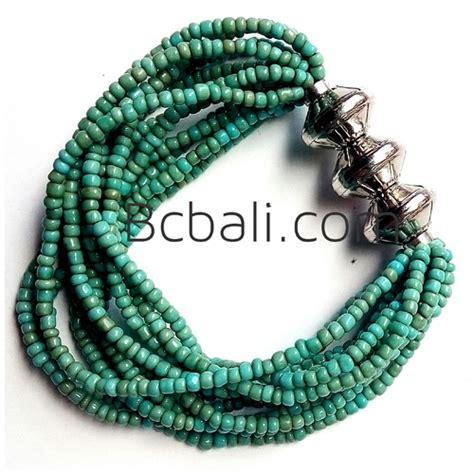 bali beads bracelets stretches turquoise bali beads