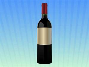 wine bottle template With generic wine labels