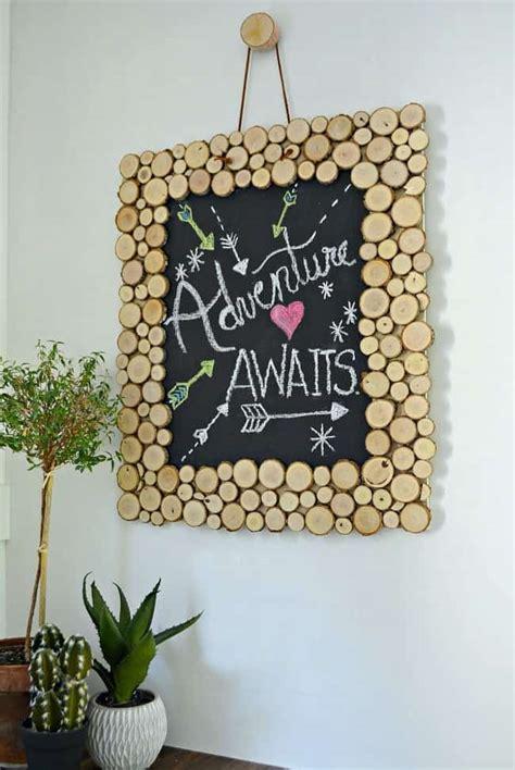 create  rustic wood slice chalkboard chatfield court