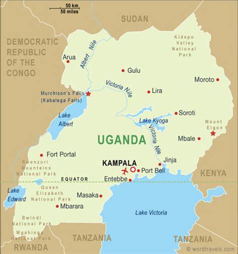 ghana uganda map