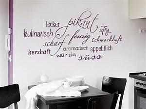Wandtattoo Geschmack kulinarische Wanddeko WANDTATTOO DE