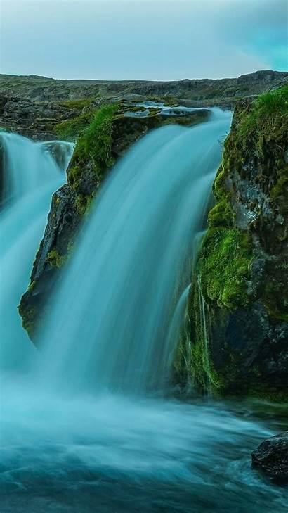 Iceland Waterfall Stream 4k Nature Rock Resolutions