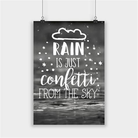 visual statements poster rain   confetti visual