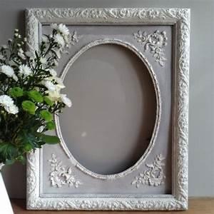 Cadre Blanc Photo : cadre ancien en bois et stuc patin l 39 ancienne blanc et gris ~ Teatrodelosmanantiales.com Idées de Décoration