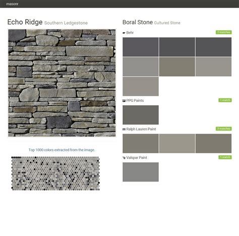echo ridge southern ledgestone cultured stone boral stone behr ppg paints ralph