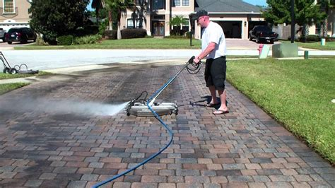 48 quot surface cleaner cleaning a paver driveway at 200 sq ft