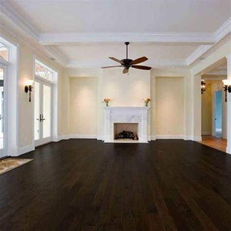Chocolate Colored Textured Laminate Wood Flooring
