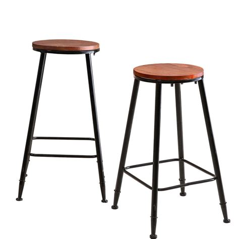 pcs vintage industrial rustic bar stool home kitchen