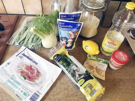 pearl couscous mozzarella  fennel salad ohmydishcom