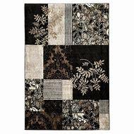 Linon Elegance 2' x 3' Marble Pattern Rug in Black