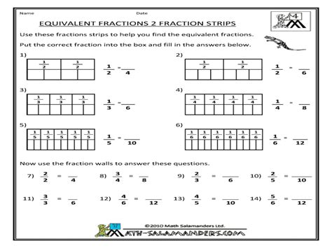 fraction bars printable worksheets free printable