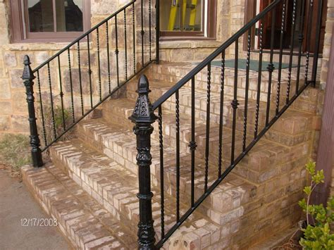 rod iron railing handmade wrought iron railing by awesome iron and steel custommade com