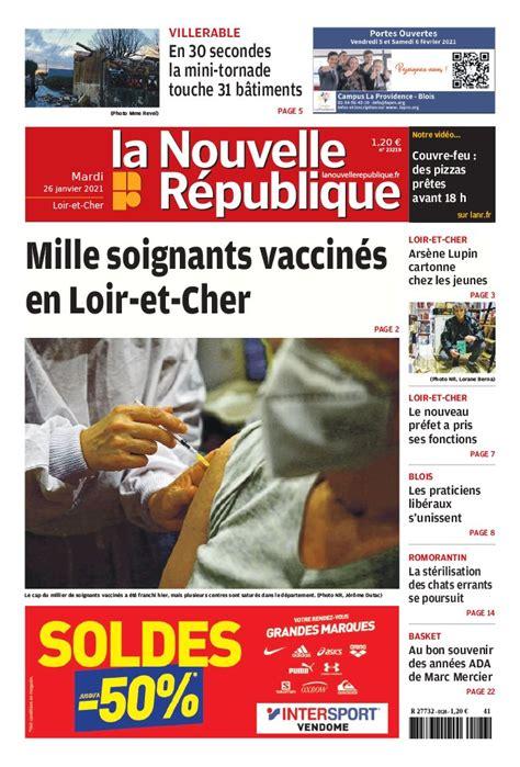 02 & 08!code my million: La Nouvelle République - Loir-et-Cher du 26 janvier 2021