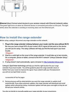 Linksys Re6300 Wireless Extender User Manual Re6300 Manual