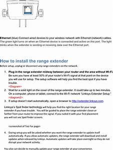 Linksys Re6300 Wireless Extender User Manual Re6300 Manual