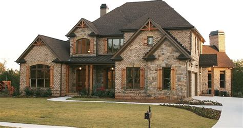 Stone And Brick Combinations Exterior Traditional With Wow