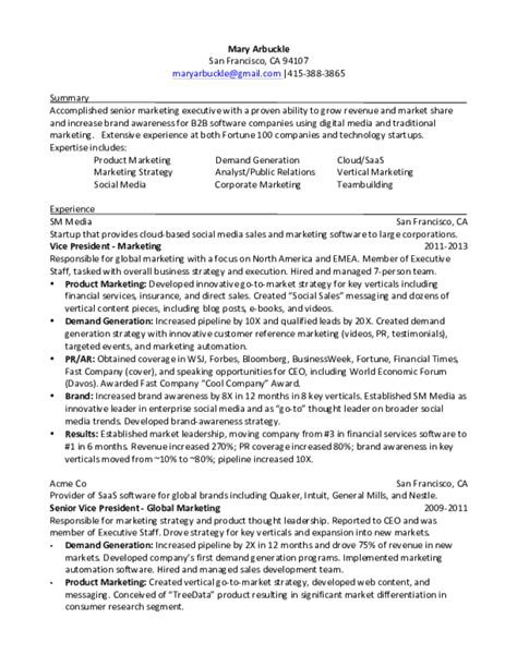 Marketing Resume Format Free by Marketing Resume Sles Free Templates In Pdf And Word