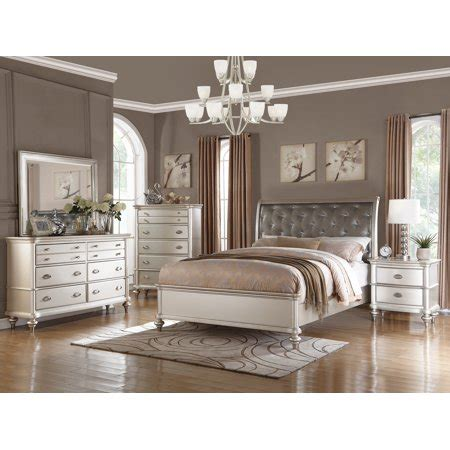 Size For Bedroom by Royal Antique Silver Color 4pc Bedroom Set California King