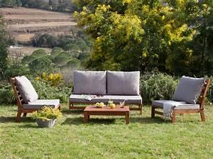 Salon Bas De Jardin Bois : shopping 30 meubles de jardin pas chers pour ne pas se ruiner elle d coration ~ Teatrodelosmanantiales.com Idées de Décoration