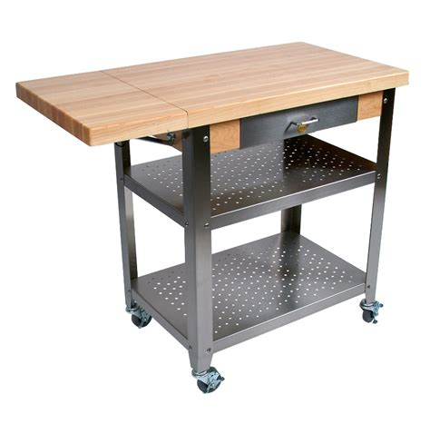 kitchen island cart butcher block boos cucina elegante wood steel kitchen cart 8150