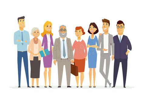 equipe bureau équipe de bureau illustration moderne de personnages de