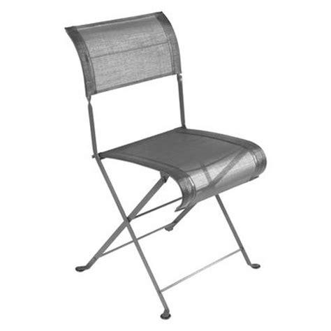 chaise pliante metal chaise pliante dune fermob gris métal chaise de jardin