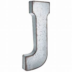 75 best wall decor letters images on pinterest iron wall With galvanized letter b