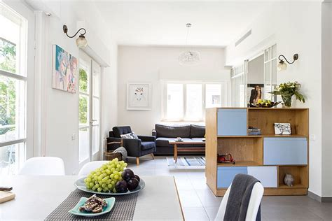 Design For Small Living Room And Kitchen by Small Tel Aviv Apartment Gets A Gorgeous Makeover And A