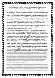 Essay Writing Thesis Statement  English Composition Essay also English Essay Examples Essay Corruption Essay In English Corruption In Essay With  Compare And Contrast Essay Papers