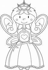 Fairy Coloring Princess Printable Fairies Worksheets Worksheet Disney sketch template