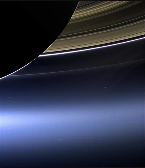 Cassini Earth View From Saturn Our Planet