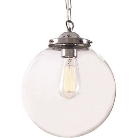 classic glass globe ceiling pendant light hanging on