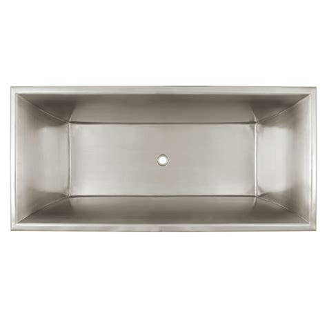 stainless steel tub prices 64 quot kendara rectangular stainless steel footed tub bathroom