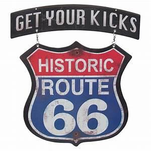 Route 66 Schild : werbung schilder mit route 66 motiven signs usa metallschilder ~ Whattoseeinmadrid.com Haus und Dekorationen