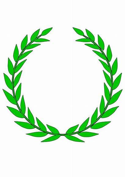 Wreath Olive Laurel Clip Round Crown Cliparts
