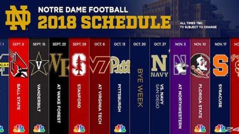 notre dame releases  football schedule cbssportscom