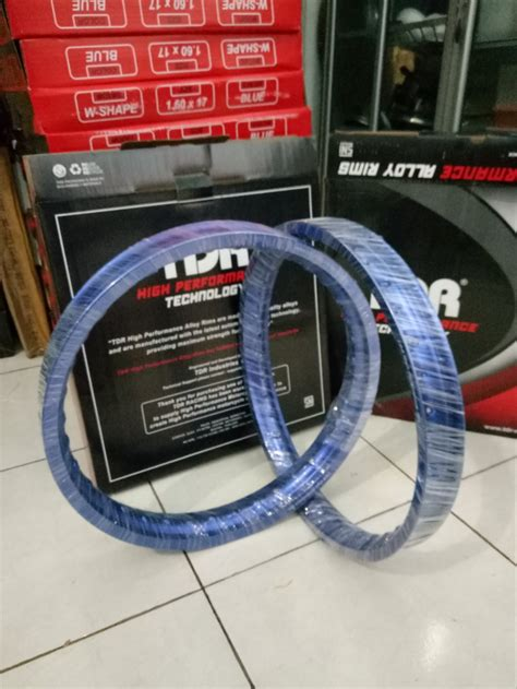 Velg Tdr Ring 17 by Jual Velg Tdr Ring 17 Type W Warna Biru Ukuran 160 Di