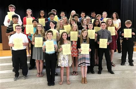 gms students join honor society