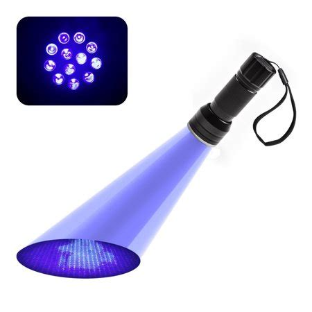 black light walmart 12led uv flashlight handheld blacklight stain pest