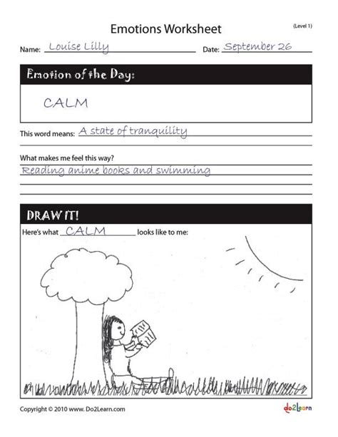 Printable Worksheets » Recognizing Emotions Worksheets  Printable Worksheets Guide For Children