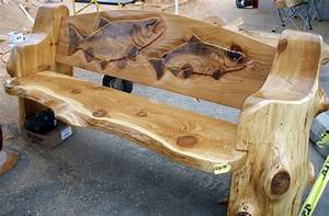 Carved Log Bench was impressed with the skill and