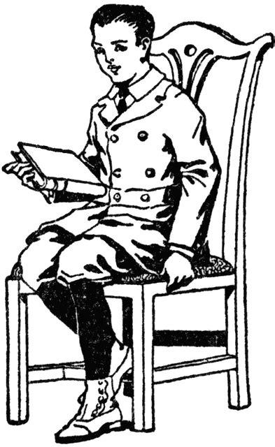 sit nicely clipart black and white boy sitting in chair with book clipart etc