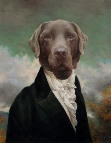 thierry poncelet style dog portraits dog artists