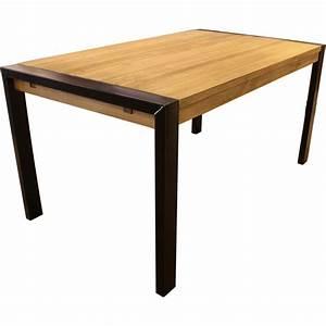 Table En Pin Massif : table rectangulaire en pin massif bross avec pieds m tal ~ Teatrodelosmanantiales.com Idées de Décoration