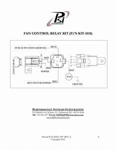 Fan Control Relay Kit  Wiring  Harness
