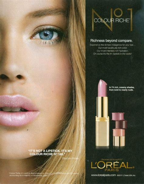 doutzen kroes  loreal lipstick commercials loreal